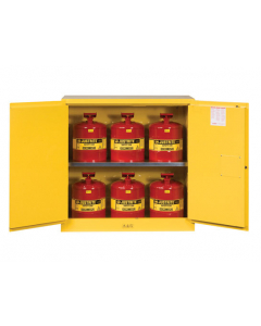 "30 Gal Yellow 44"" Safety Cabinet with Can Package, 2 Manual Close Doors - Sure-Grip® EX- #8930008"