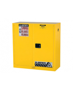 Sure-Grip® EX Flammable Safety Cabinet, 30 gallon, 44 inch Height,  2 manual close doors, Yellow - #893000