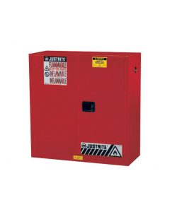 30 gallon Red Flammable Safety Cabinet, 2 Manual Close Door - Sure-Grip® EX- #893001