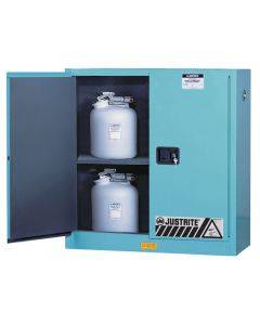ChemCor® Corrosives/Acids Safety Cabinet, 30 gallon, 2 Manual-Close Doors, Blue - #8930022