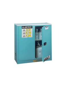 Sure-Grip® EX Corrosives/Acid Steel Safety Cabinet, 30 gallon, 2 manual close doors, Blue - #893002