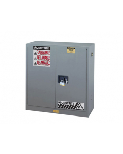 Sure-Grip® EX Flammable Safety Cabinet, 30 gallon, 2 manual close doors, Gray - #893003