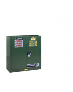 Sure-Grip® EX Pesticides Safety Cabinet, 30 gallon,  2 manual close doors, Green - #893004