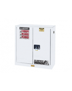Sure-Grip® EX Flammable Safety Cabinet, 30 gallon, 2 manual close doors, White - #893005