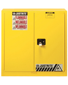 Sure-Grip® EX Combustibles Safety Cabinet for paint and ink, 40 gallon, 2 manual close door, Yellow - #893010