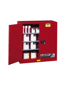 Sure-Grip® EX Combustibles Safety Cabinet for paint and ink, 40 gallon, 2 manual doors, Red - #893011