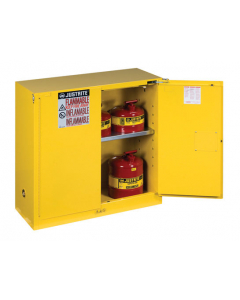 Sure-Grip® EX Flammable Safety Cabinet,  30 gallon, 1 shelf, 2 self-close doors, Yellow - #893020