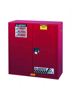 30 gallon Red Flammable Safety Cabinet, 2 Shelf, 2 Self Close Door - Sure-Grip® EX- #893021