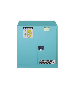 Sure-Grip® EX Corrosives/Acid Steel Safety Cabinet, 30 gallon, 2 self-close doors, Blue - #893022