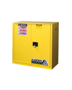 Sure-Grip® EX Flammable Safety Cabinet, 30 gallon, 1 bi-fold self-close door, Yellow - #893080