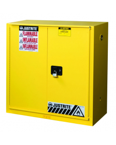 Sure-Grip® EX Combustibles Safety Cabinet for paint and ink, 40 gallon, 1 bi-fold self-close door, Yellow - #893090