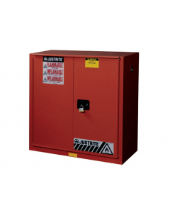 Sure-Grip® EX Combustibles Safety Cabinet for paint and ink, 40 gallon, 1 bifold self-close door, Red - #893091