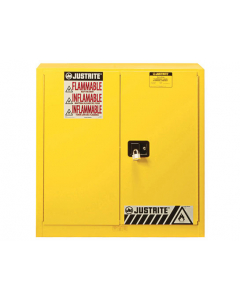 Sure-Grip® EX Flammable Safety Cabinet, 30 gallon, 35 inch Height, 2 manual close doors, Yellow - #893300