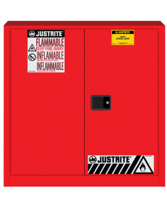 Sure-Grip® EX Flammable Safety Cabinet, 30 gallon, 2 manual close doors, Red - #893301