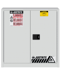 Sure-Grip® EX Flammable Safety Cabinet, 30 gallon, 2 manual close doors, White - #893305