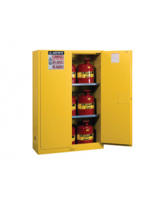 45 Gal Yellow Safety Cabinet with Can Package, 2 Manual Close Doors - Sure-Grip® EX- #8945008