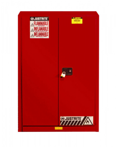 45 gallon Red Flammable Safety Cabinet, 2 Manual Close Door - Sure-Grip® EX- #894501