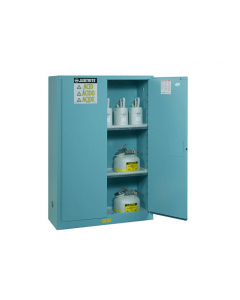 ChemCor® Corrosives/Acids Safety Cabinet, 30 gallon, 1 Bi-Fold Self-Close Door, Blue - #8930822