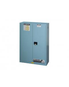 Sure-Grip® EX Corrosives/Acid Steel Safety Cabinet, 45 gallon, 2 manual close doors, Blue - #894502