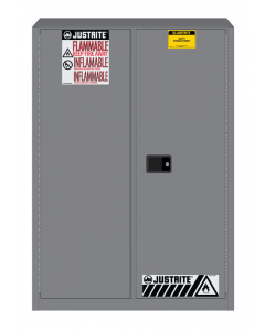 Sure-Grip® EX Flammable Safety Cabinet,  45 gallon,  2 manual-close doors, Gray - #894503