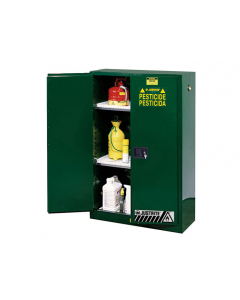 Sure-Grip® EX Pesticides Safety Cabinet, 45 gallon, 2 manual-close doors, Green - #894504