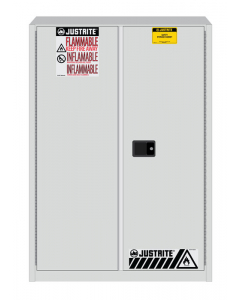 Sure-Grip® EX Flammable Safety Cabinet,  45 gallon,  2 manual-close doors, White - #894505