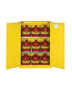 45 Gal Yellow Safety Cabinet with Can Package, 2 Self-Close Doors - Sure-Grip® EX - #8945208