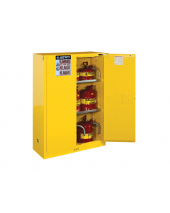 Sure-Grip® EX Flammable Safety Cabinet, 45 gallon,  2 self-close doors, Yellow - #894520