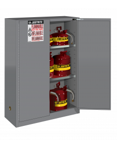 Sure-Grip® EX Flammable Safety Cabinet, 45 gallon, 2 self-close doors, Gray - #894523