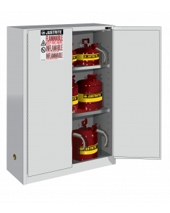 Sure-Grip® EX Flammable Safety Cabinet, 45 gallon, 2 self-close doors, White - #894525