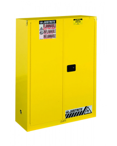 Sure-Grip® EX Combustibles Safety Cabinet for paint and ink, 60 gallon, 2 self-close doors, Yellow - #894530
