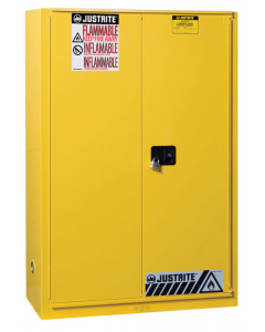 Sure-Grip® EX Flammable Safety Cabinet, 45 gallon, 1 bi-fold self-close door, Yellow - #894580