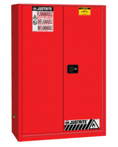 Sure-Grip® EX Flammable Safety Cabinet, 45 gallon, 1 bi-fold self-close door, Red - #894581