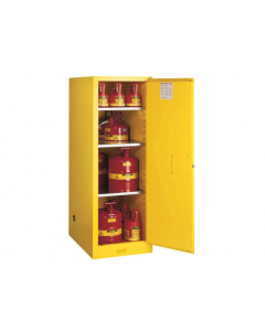 54 gallon Yellow Deep Slimline Flammable Safety Cabinet, 1 Manual Close Door - Sure-Grip® EX- #895400