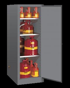54 gallon Gray Deep Slimline Flammable Safety Cabinet, 1 Manual Close Door - Sure-Grip® EX- #895403