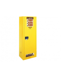 54 gallon Yellow Deep Slimline Flammable Safety Cabinet, 1 Self-Close Door - Sure-Grip® EX- #895420