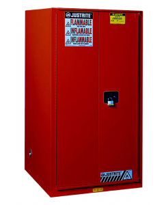 60 gallon Red Flammable Safety Cabinet, 2 Manual Close Door - Sure-Grip® EX- #896001