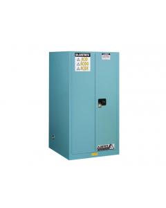 Sure-Grip® EX Corrosives/Acid Steel Safety Cabinet, 60 gallon, 2 manual close doors, Blue - #896002