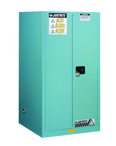 Sure-Grip® EX Corrosives/Acid Steel Safety Cabinet, 90 gallon, 2 manual close doors, Blue - #899002