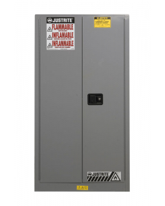 Sure-Grip® EX Flammable Safety Cabinet, 60 gallon, 2 self-close doors, Gray - #896023