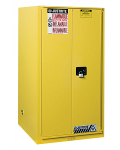 Sure-Grip® EX Flammable Safety Cabinet, 60 gallon, 1 bi-fold self-close door, Yellow - #896080