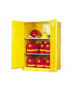 Sure-Grip® EX Flammable Safety Cabinet,  90 gallon, 2 manual-close doors, Yellow - #899000