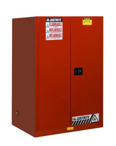 90 gallon Red Flammable Safety Cabinet, 2 Manual Close Door - Sure-Grip® EX- #899001
