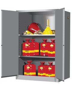 Sure-Grip® EX Flammable Safety Cabinet,  90 gallon, 2 manual-close doors,Gray - #899003