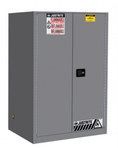 Sure-Grip® EX Flammable Safety Cabinet, 90 gallon, 2 self-close doors, Gray - #899023