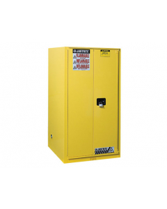 90 gallon Yellow Flammable Safety Cabinet, 1 Bi-Fold Self-Close Door - Sure-Grip® EX- #899080