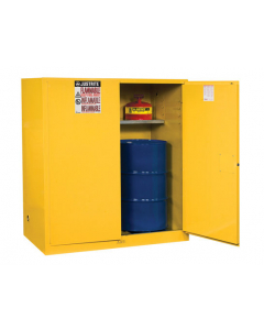 Sure-Grip® EX Vertical Drum Safety Cabinet and Drum Support, 110 gallon  2 manual close doors, Yellow - #899100