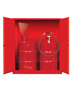 Sure-Grip® EX Vertical Drum Safety Cabinet and Drum Support, 110 gallon  2 manual close doors, Red - #899101