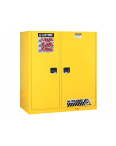 Sure-Grip® EX Double-Duty Safety Cabinet with Drum Rollers, 2 self-close doors, Yellow - #899270
