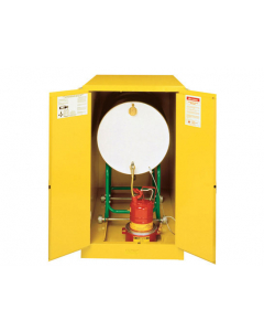 Sure-Grip® EX Horizontal Drum Safety Cabinet with Cradle Track, 55 gallon drum, 2 manual close doors, Yellow - #899300